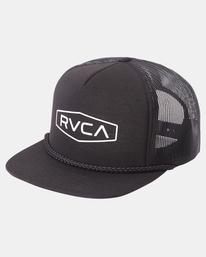2 STAPLE FOAMY TRUCKER HAT Black AVYHA00153 RVCA