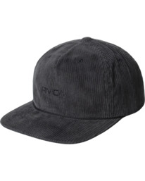 0 Curren Caples   Tonally Corduroy Claspback Hat Black AVYHA00198 RVCA