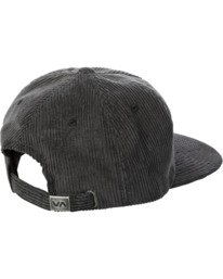 2 Curren Caples   Tonally Corduroy Claspback Hat Black AVYHA00198 RVCA