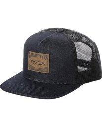 0 Badge Trucker Hat Blue AVYHA00202 RVCA