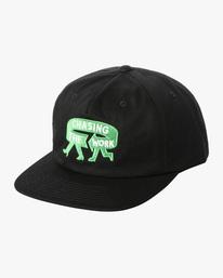 0 Espo | RVCA x Espo Snapback Hat Black AVYHA00216 RVCA