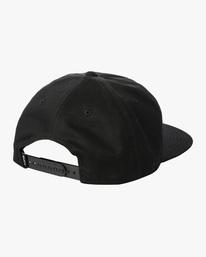 1 Espo | RVCA x Espo Snapback Hat Black AVYHA00216 RVCA