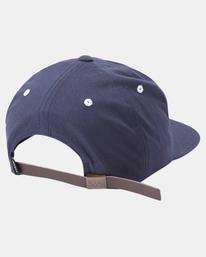 3 VA Univ Strapback Hat Blue AVYHA00223 RVCA