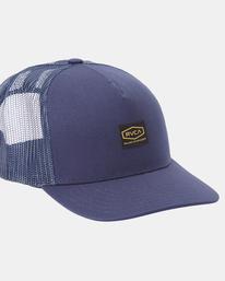4 Day Shift Trucker Hat Blue AVYHA00232 RVCA