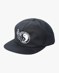 0 RVCA T&C Snapback Hat Black AVYHA00276 RVCA