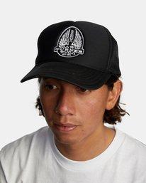 2 Gary Turner Trucker Hat Black AVYHA00281 RVCA