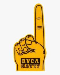 1 Matty Matheson   Matty Foam Finger Yellow AVYHN00103 RVCA