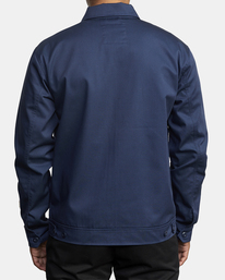 2 Evan Mock | W 16th St. Service Jacket Blue AVYJK00125 RVCA