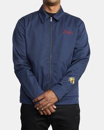 1 Evan Mock | W 16th St. Service Jacket Blue AVYJK00125 RVCA