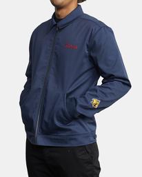 6 Evan Mock | W 16th St. Service Jacket Blue AVYJK00125 RVCA