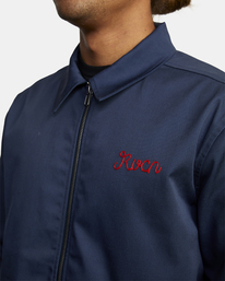 7 Evan Mock | W 16th St. Service Jacket Blue AVYJK00125 RVCA