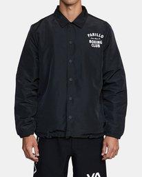 1 Parillo Boxing Coaches Jacket Black AVYJK00129 RVCA