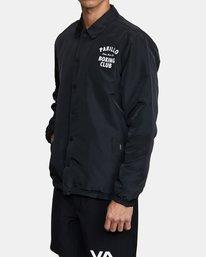 3 Parillo Boxing Coaches Jacket Black AVYJK00129 RVCA