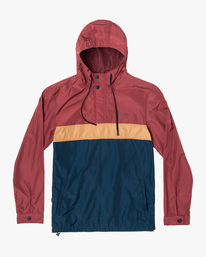 0 Meyer Packable Anorak Jacket Red AVYJK00134 RVCA