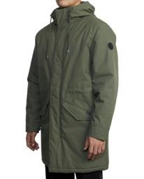 3 Standard Patrol Hooded Parka Jacket Green AVYJK00143 RVCA