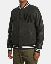 4 Junior Varsity Letterman Jacket Orange AVYJK00145 RVCA