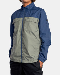 3 Baybreaker 2 Jacket Blue AVYJK00146 RVCA
