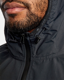 14 Outsider Packable Anorak Jacket Black AVYJK00148 RVCA