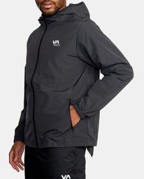3 Outsider Packable Anorak Jacket Black AVYJK00148 RVCA