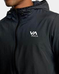 6 Outsider Packable Anorak Jacket Black AVYJK00148 RVCA