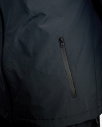 8 Outsider Packable Anorak Jacket Black AVYJK00148 RVCA