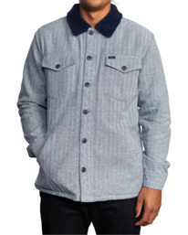 3 Benny Shirt Jacket Grey AVYJK00156 RVCA