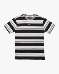 0 CURTIS STRIPE II SHORT SLEEVE TEE Black AVYKT00101 RVCA
