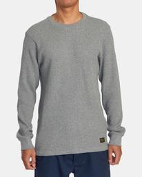 1 Recession | Day Shift Long Sleeve Thermal Shirt Green AVYKT00104 RVCA