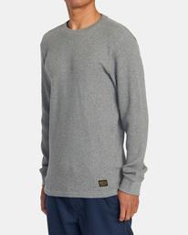 3 Recession | Day Shift Long Sleeve Thermal Shirt Green AVYKT00104 RVCA