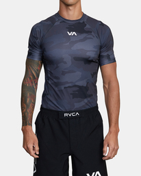 0 SPORT SHORT SLEEVE RASHGUARD Brown AVYKT00115 RVCA