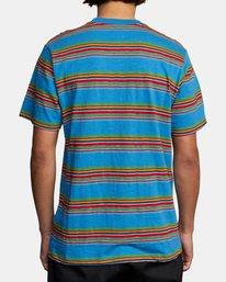 2 El Rosario Stripe Short Sleeve Tee Blue AVYKT00149 RVCA