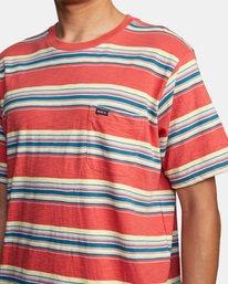5 El Rosario Stripe Short Sleeve Tee White AVYKT00149 RVCA