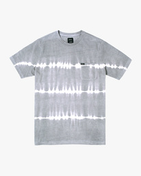 0 Manic Tie-Dye Stripe Short Sleeve Tee Grey AVYKT00153 RVCA