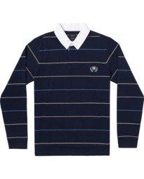 0 Balance Rugby Long Sleeve Polo Shirt Blue AVYKT00162 RVCA