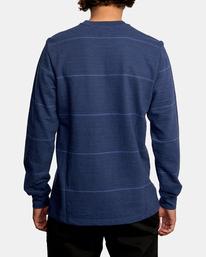 2 Spent Stripe Long Sleeve Tee Blue AVYKT00163 RVCA