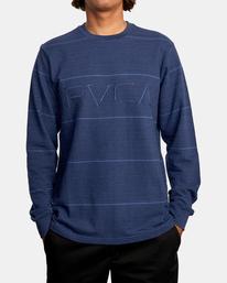 1 Spent Stripe Long Sleeve Tee Blue AVYKT00163 RVCA