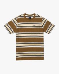 0 Fragment Stripe Short Sleeve Tee Brown AVYKT00165 RVCA