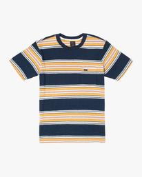 0 Fragment Stripe Short Sleeve Tee Blue AVYKT00165 RVCA