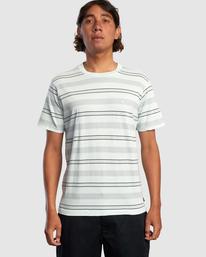 1 Travelers Stripe Short Sleeve Tee Green AVYKT00168 RVCA