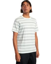 5 Travelers Stripe Short Sleeve Tee Green AVYKT00168 RVCA
