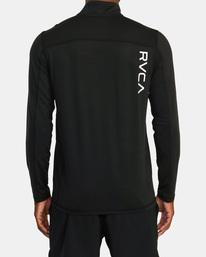 1 VA Sport | Sport Vent Long Sleeve Half-Zip Jacket Black AVYKT00169 RVCA