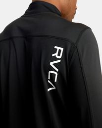 5 VA Sport | Sport Vent Long Sleeve Half-Zip Jacket Black AVYKT00169 RVCA