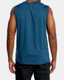 2 VA Sport | Sport Vent Workout Muscle Tank Top Blue AVYKT00170 RVCA