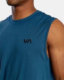 3 VA Sport | Sport Vent Workout Muscle Tank Top Blue AVYKT00170 RVCA
