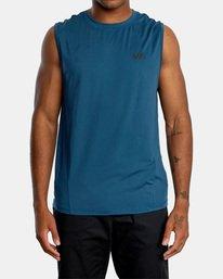 1 VA Sport | Sport Vent Workout Muscle Tank Top Blue AVYKT00170 RVCA