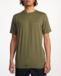 0 Balance Arc Performance Short Sleeve Tee Green AVYKT00174 RVCA
