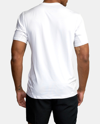 1 Sport Vent Big RVCA Speed Performance Workout Shirt White AVYKT00180 RVCA