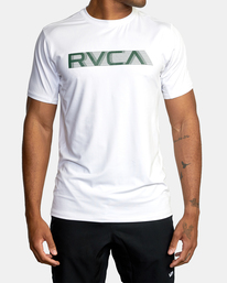 0 Sport Vent Big RVCA Speed Performance Workout Shirt White AVYKT00180 RVCA