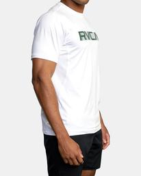 3 VA Sport | Sport Vent Big RVCA Speed Performance Workout Shirt White AVYKT00180 RVCA