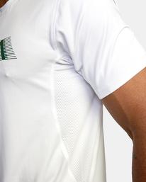 5 Sport Vent Big RVCA Speed Performance Workout Shirt White AVYKT00180 RVCA